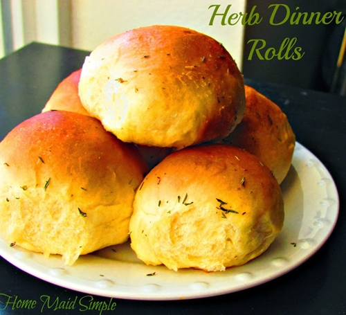 home maid simple: herb dinner rolls with  #STAROliveOil