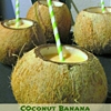 Coconut Banana Smoothie in Coconut Shells