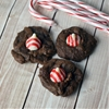 Chocolate peppermint kiss cookies
