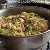 Broccoli Chicken Noodle Bowls
