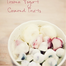 Frozen Yogurt Covered Fruits - Simple Healthy Snack!