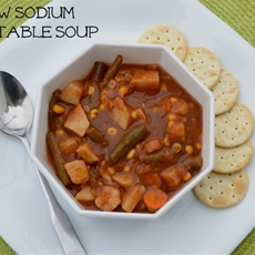 Homemade Low Sodium Vegan Veggie Soup
