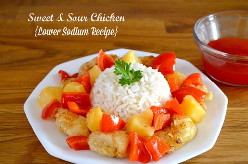 Sweet & Sour Chicken {low sodium recipe}