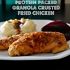 High-Fiber, High Protein Granola Crusted Fried Chicken {Low Sodium}