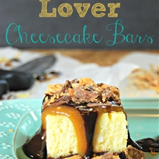 Peanut Butter Lover Cheesecake Bars