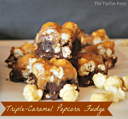 Triple-Caramel Popcorn Fudge