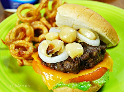 Hellmans Best Ever Juicy Burger with Roasted Garlic
