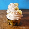 Banana Caramel Cupcakes with Brown Butter Frosting