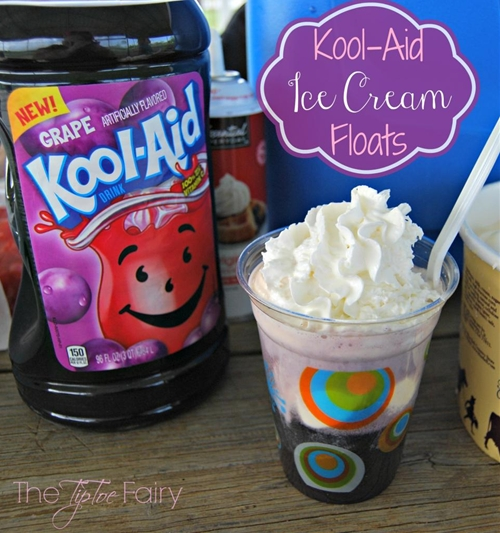 #KoolOff with Kool-Aid Ice Cream Floats recipe | Chefthisup