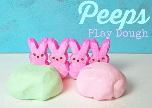 Marshmallow Peeps Play Dough