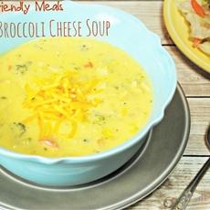 Chicken Broccoli Cheese Soup & Salad