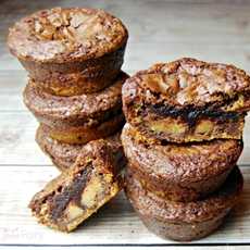 Peanut Butter Cookie Brownie Cups