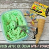Zours Candy Ideas with Green Apple Ice Cream