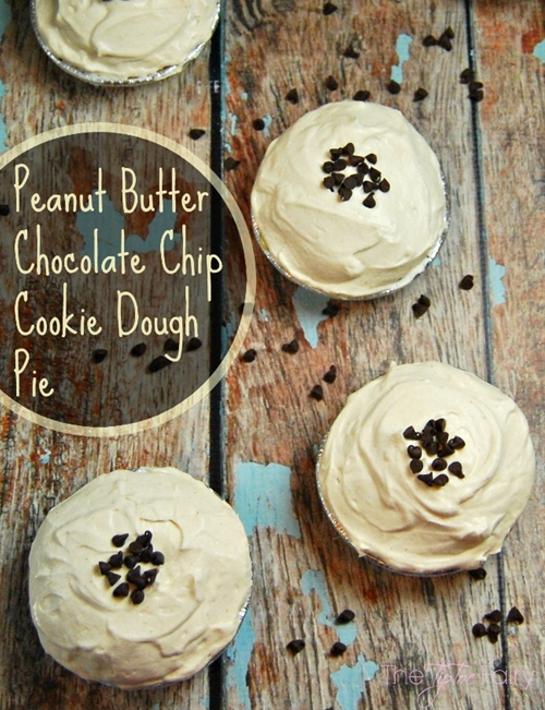 Peanut Butter Chocolate Chip Cookie Dough Pie