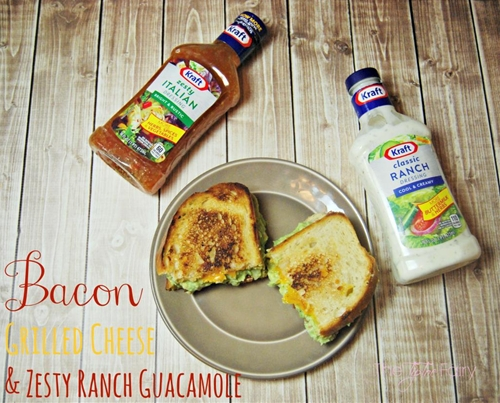 Bacon Grilled Cheese with Zesty Ranch Guacamole Dip