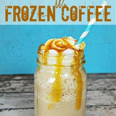 #IcedDelight Sweet Toffee Cream Frozen Coffee