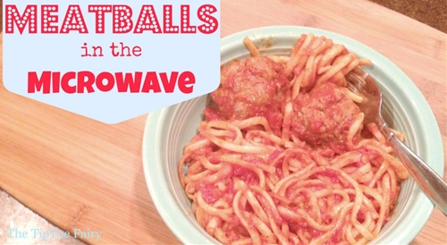 Made from Scratch Meatballs in the Microwave