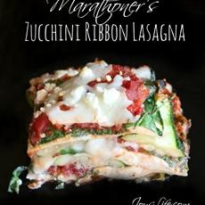 Marathoners Zucchini Ribbon Lasagna