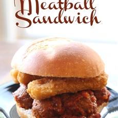 Mozzarella Cheese Stick Meatball Sandwich