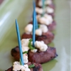 Italian Marinated Beef Medallions with Blue Cheese & Chives