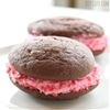 Chocolate Marshmallow Whoopie Pies & Strawberry Buttercream Filling