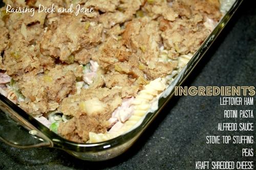 Leftover Ham & Stuffing Bake