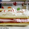 Sugar Cookie Peppermint Ice Cream Sandwiches