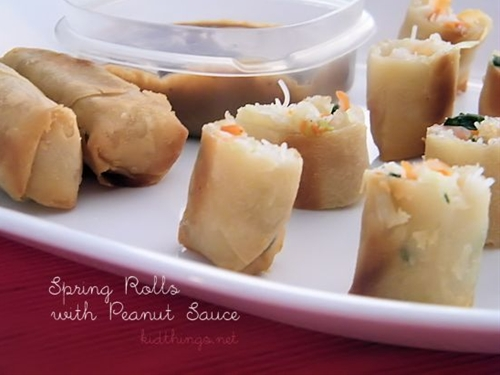 Peanut Dipping Sauce for Spring Rolls