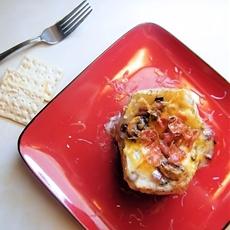Cheesy Bacon and Mushroom Baked Potatoes