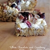White Chocolate Chip and Cranberry Bars