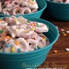 Sprinkle of Spring Vanilla Almond Bark Pretzels