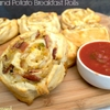 Bacon and potato breakfast rolls