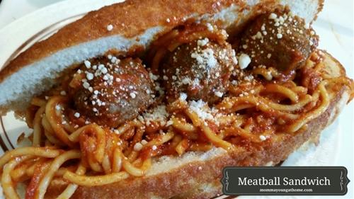 Spaghetti and Meatballs in a Sandwich?