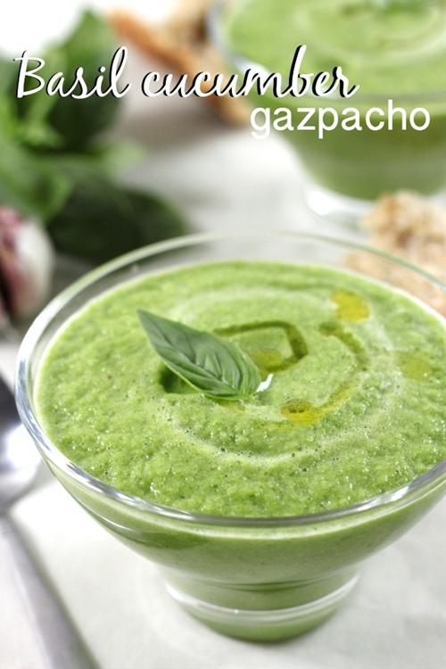 Basil cucumber gazpacho