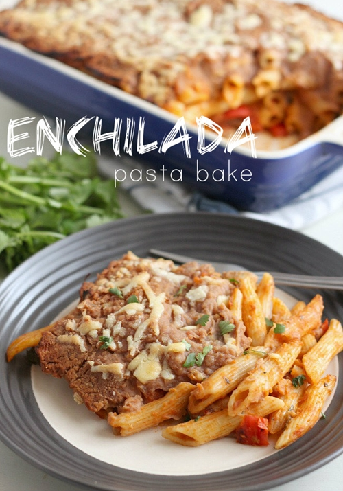 Enchilada pasta bake