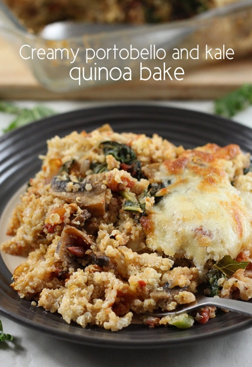 Creamy portobello and kale quinoa bake (giveaway!)