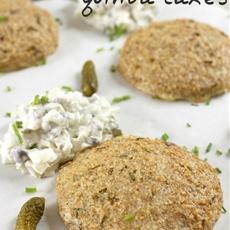 Cheesy quinoa cakes