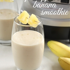 Coconut pineapple banana smoothie