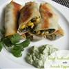 Baked Southwest Eggrolls & Avocado Dipping Sauce