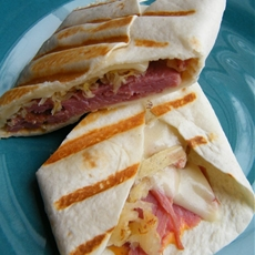Grilled Reuben Tortilla Wraps