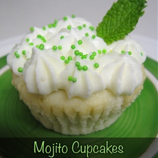 Mojito Cupcakes with Mint Frosting