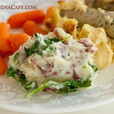 Mashed Potatoes with Wilted Spinach