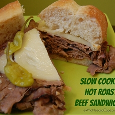 Slow Cooker Hot Roast Beef Sandwich