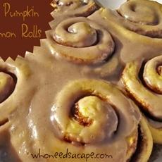 Quick Pumpkin Cinnamon Rolls