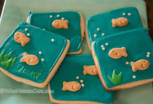 Goldfish Royal Icing Cookies