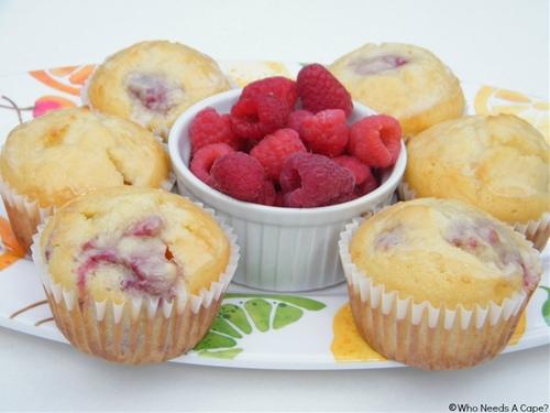 Lemon-Glazed Raspberry Muffins