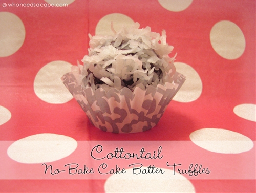 Cottontail No-Bake Cake Batter Truffles