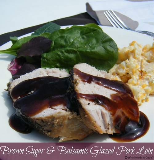 Brown Sugar & Balsamic Glazed Pork Loin