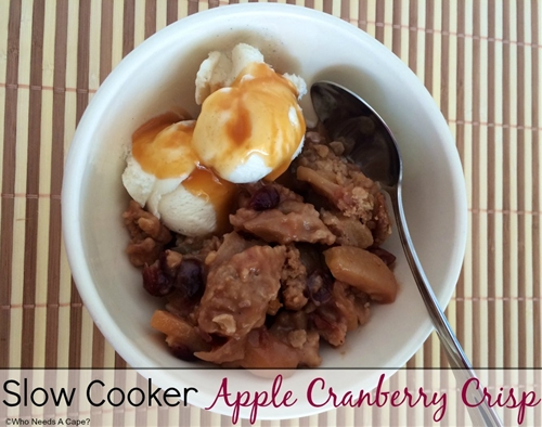 Slow Cooker Apple Cranberry Crisp