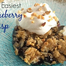 The Easiest Blueberry Crisp